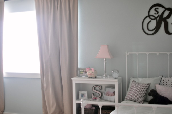 Shared boy/girl room, This is our 2 1/2 year old daughter and 6 month old baby boy's room.  I like the calmness of it as we have a separate play room., Nurseries Design