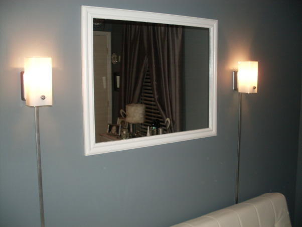Den / Sitting area, Den/entertainment room , A mirror I painted that use to be black.    , Other Spaces Design