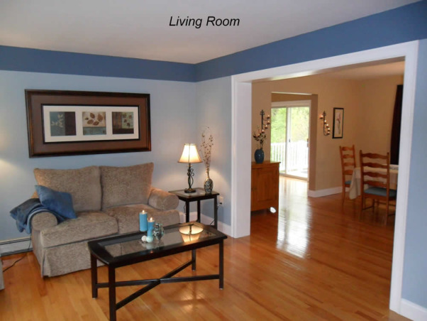 Pauls Living room, keeping with the beach / nature color theme this room is blue with tan furniture., Living Rooms Design