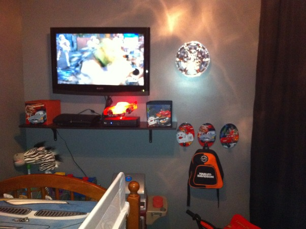 My 4 year old son's bedroom, Our son is a big Cars fan.. therefore that's how he wanted his room, Boys' Rooms Design