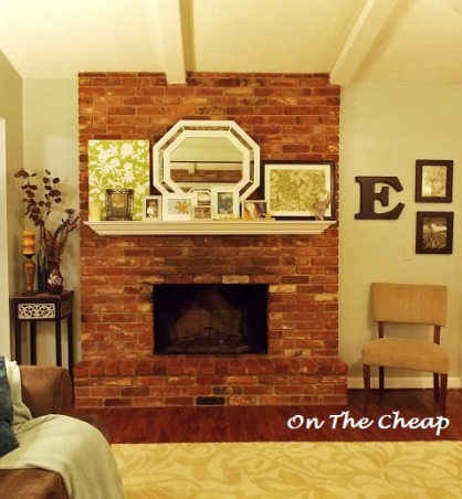 Fireplace fix up,    Just a small amount of fixing up I changed this old dated fireplace into a happy and fun focal point., http://wp.me/1MmG7   Check out my blog too!, Living Rooms Design
