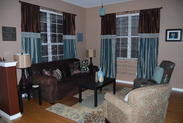 Turquoise and Brown, Formal living/dining, Living Rooms Design