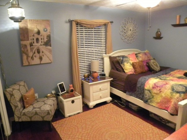 Bohemian style girls room, 16 year old daughter's bedroom remodel.   , Girls' Rooms Design