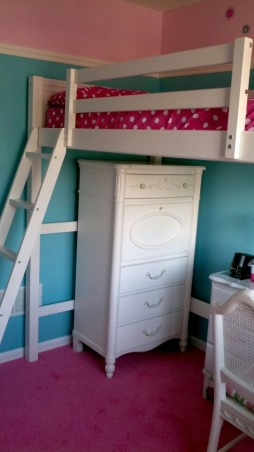 Lofty fun, My daughter has a small room so we wanted a space where she can both relax and play!, Clothes storage, Girls' Rooms Design