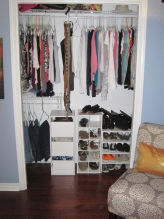 Bohemian style girls room, re-organized the closet and got floating hard wood floors to replace the 19 year old carpet  , Girls' Rooms Design