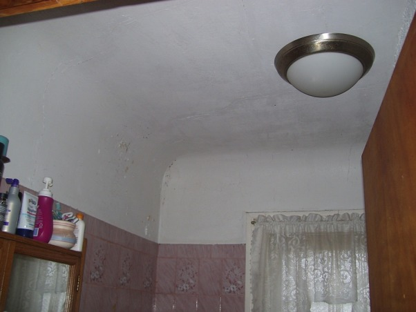 MY UGLY BATHROOM, our only bathroom besides a toilet in the basement...needs major re-do BAD!, bathroom ceiling,,cracked and worn.  I have painted over and over with no luck on keeping the cracks at bay!, Bathrooms Design