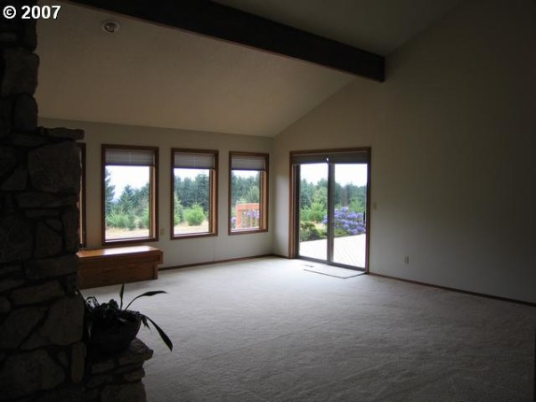 Living room make over, The room had great bones but the carpet and a bare fireplace needed to be changed.  This room was remade into a sleek and modern great room indeed., the views were blocked by a false wall. , Living Rooms Design