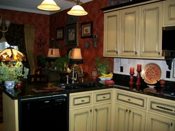 Inside Garden Bugs Home, My style is eclectic, which my not be to everyones liking. This is our kitchen ., I faux painted the cabinets., Kitchens Design