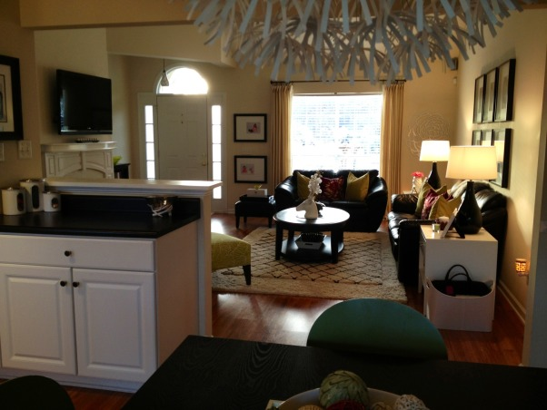 Black & White Kitchen, View of living room from kitchen , Kitchens Design