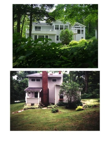 house makeover, Paradise in the Endless Mountains, Before and after north side, Home Exterior Design