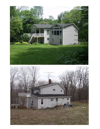 house makeover, Paradise in the Endless Mountains, Before and after west side, Home Exterior Design