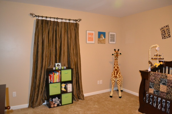 Ty's Safari, I wanted to do a safari themed room for my baby boy, but I didn't want to go the typical safari route that you always see. I love his room and I hope he loves it as much as I do., Nurseries Design