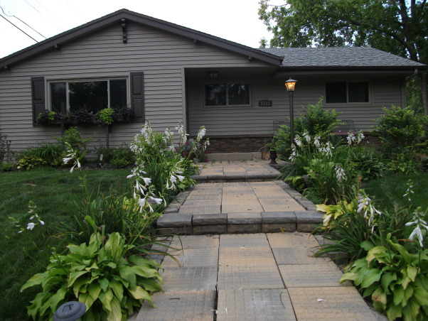 My New Home Redo, Exterior Makeover - Paint/Landscaping, After - Paint, stone veneer and lots of landscaping!!    , Home Exterior Design