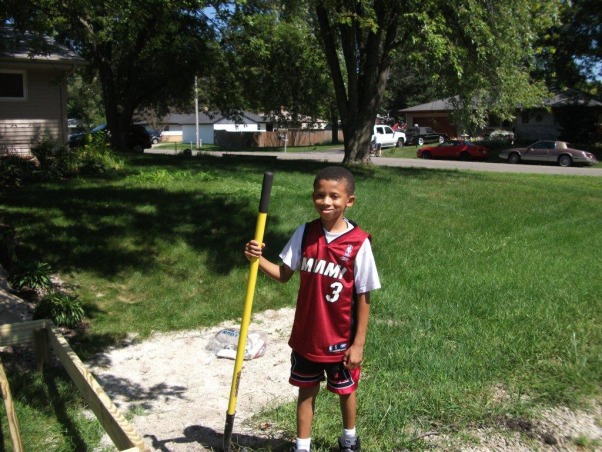 My New Home Redo, Exterior Makeover - Paint/Landscaping, My little helper (he likes to earn his allowance)!!  , Home Exterior Design
