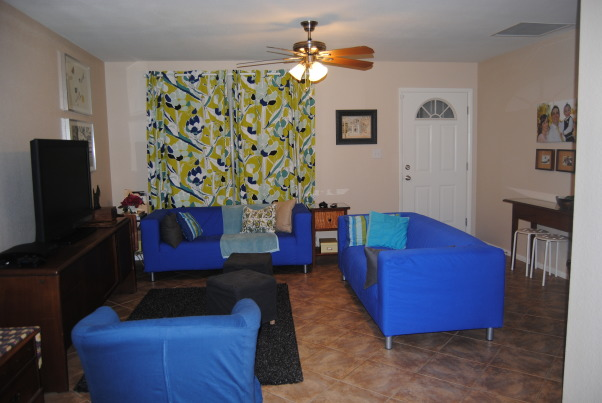 IKEA + me Family Room, Yes, I love color. Yes, I love IKEA. This room showcases both. I would--of course--love any positive feedback on my space, but also let me know if you have suggestions for small improvements. Thanks!, Two matching IKEA Klippan couches offer plenty of seating, while a shaggy area rug offers a soft landing pad for tickle fights and impromptu naps. An added bonus: the covers are removable and were purchased on clearance for just $10 each--a total savings of $140 off the regular price!  , Living Rooms Design