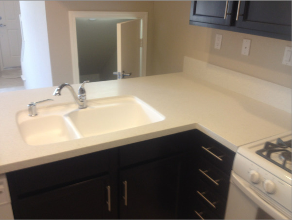 My New Kitchen, This is my kitchen in my new townhouse, the only thing i done so far is buying a refrigerator , Kitchen sink, Kitchens Design