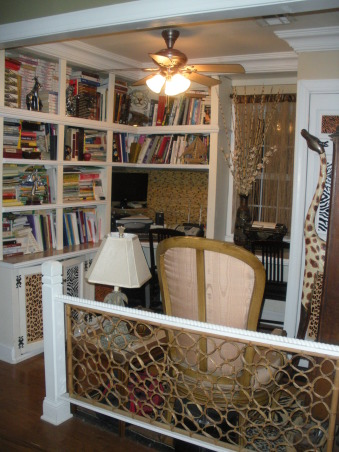 "African Safari Office, Combined the warmth of the bamboo along with the animal prints in order to create a wonderful ""wild"" office., Home Offices Design"