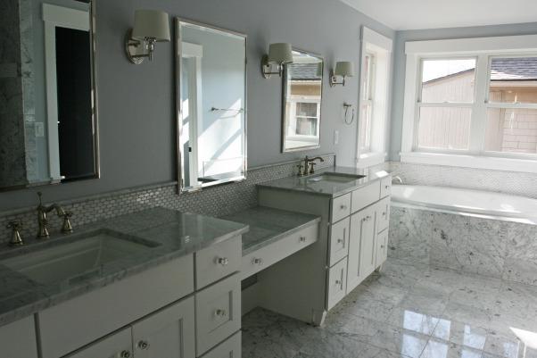 Carrera marble master bathroom, Bathrooms Design