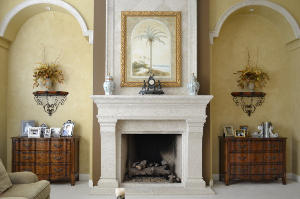 Old World/ Mediterranean Family Room, Living Rooms Design
