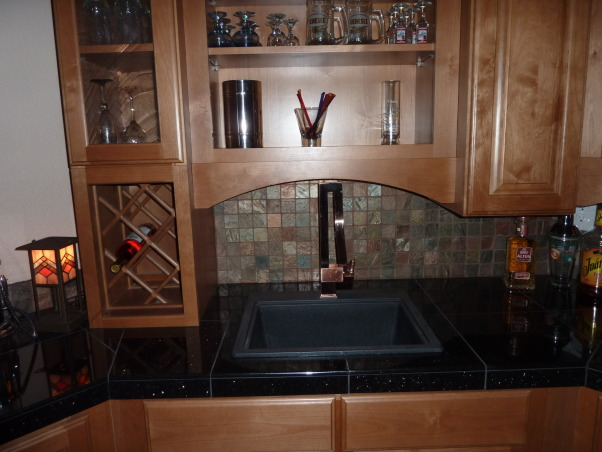 Fab Finished basement 2010, We finished our basement of our home, adding a bedroom, workout room, bath, curved bar and great tv viewing area!, Bar sink, Basements Design