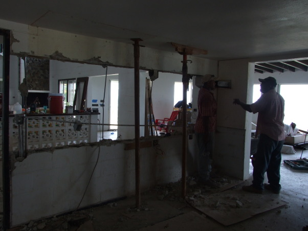 My kitchen under construction , Well i started this kitchen in 2012 and it is still under work it will soon finish , I wanted to expand the kitchen so that wall had to go     , Kitchens Design