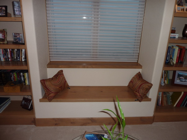 Fab Finished basement 2010, We finished our basement of our home, adding a bedroom, workout room, bath, curved bar and great tv viewing area!, one of two built-in benches, Basements Design