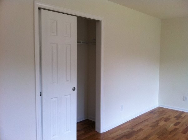 Guest Bedroom on a Budget, Blank Space Turned Guest Bedroom on a Tight Budget, Before - Closet wall        , Bedrooms Design