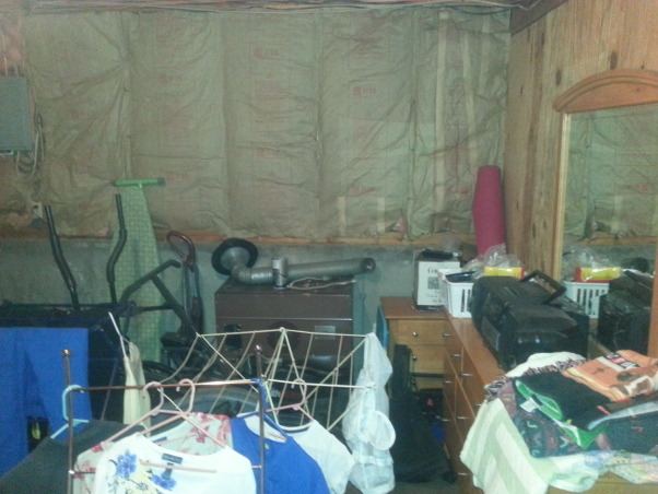 Wasted Space, laundry room with wasted space. 3 person house, one has chrohns...only one bathroom....., waste of basement space 1, Basements Design