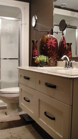 Chocolate Basement Bath, Bathrooms Design