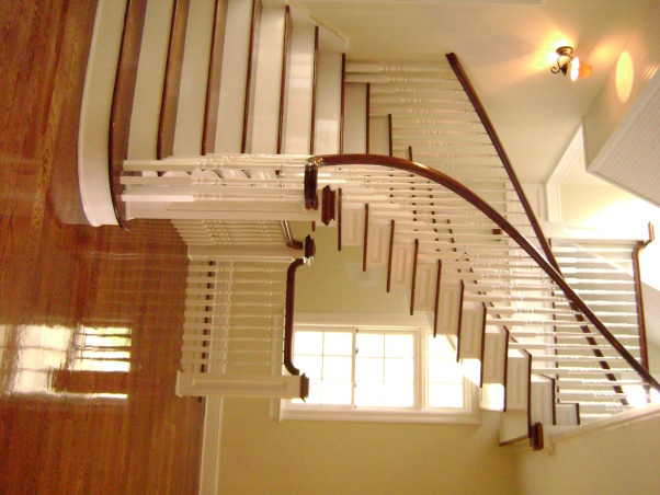 Foyer Stair's, Stair's I designed and built with H D lumber, Other Spaces Design