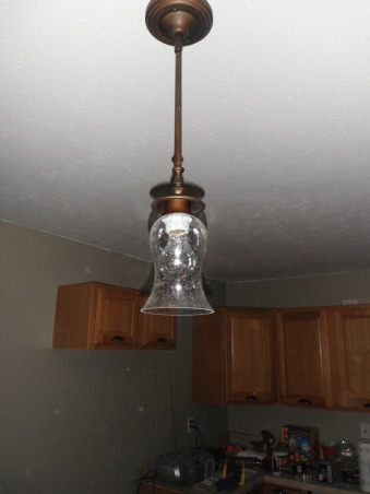 Our short sale Kitchen makeover, Short sale kitchen was short on cabinets,appliances,countertops,you name it!, We put up 3 new pendant lights over the new kitchen island,,, Kitchens Design