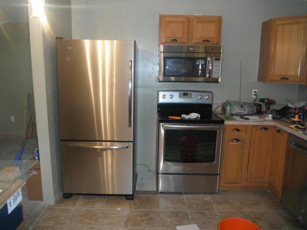 Our short sale Kitchen makeover, Short sale kitchen was short on cabinets,appliances,countertops,you name it!, New Appliances, Kitchens Design