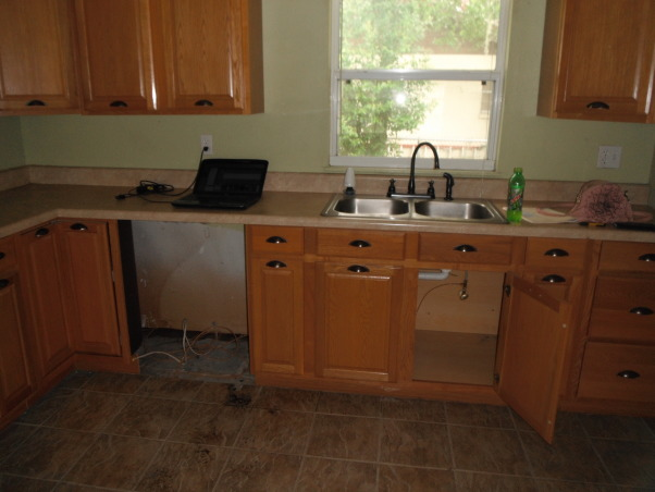 Our short sale Kitchen makeover, Short sale kitchen was short on cabinets,appliances,countertops,you name it!, no appliances, Kitchens Design