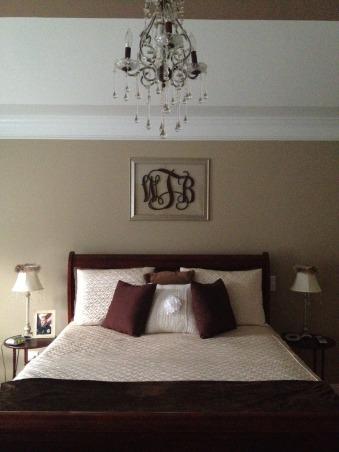 Master bedroom , Love monograms!!, Bedrooms Design