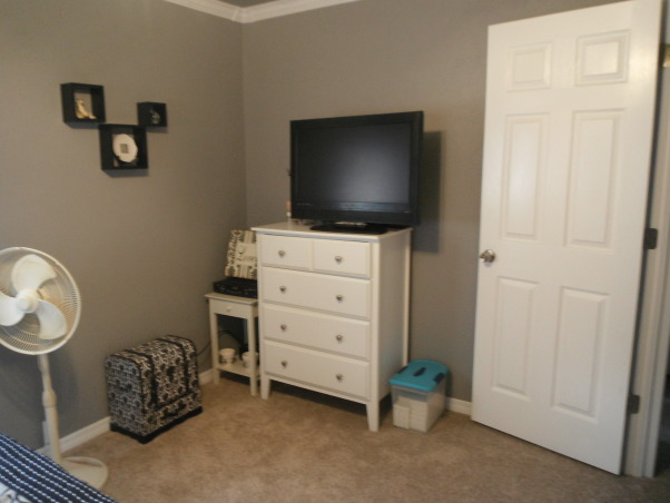 Master Bedroom Re-Do, Everything in this bedroom was redone., Planning on moving tv out as soon as our sitting room is finished...will be adding something to the wall then also, , Bedrooms Design