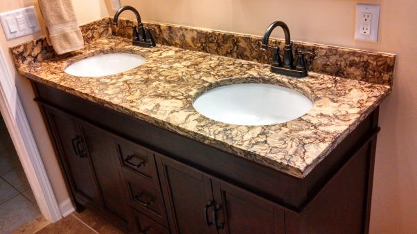 Beautiful Remodeled Bathroom, Small Updated Bathroom, Delta Faucets on Cambria Quartz Countertop , Bathrooms Design