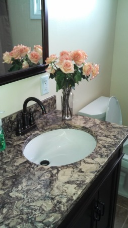 Beautiful Remodeled Bathroom, Small Updated Bathroom, Newly laid Cambria Quartz countertop  , Bathrooms Design