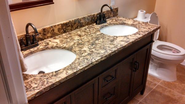 Beautiful Remodeled Bathroom, Small Updated Bathroom, Cambria Quartz Countertop , Bathrooms Design