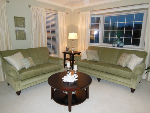 Simply Sophisticated, I wanted a simple, clean, sophisticated living room with muted tones and  just a touch of coastal flair. It came out just as I had hoped.   , Living Rooms Design