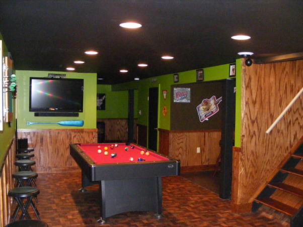 Apple green and an apple martini?, This basement is very cozy and fun and offers a lot.Although not a huge amount of space we utilized it and made it very fun., lets have fun, Basements Design