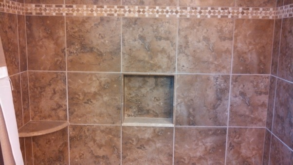 Beautiful Remodeled Bathroom, Small Updated Bathroom, Tiled Shower with 13x13 tiled insert, Bathrooms Design