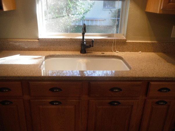 Our short sale Kitchen makeover, Short sale kitchen was short on cabinets,appliances,countertops,you name it!, New composite sink and new faucet, Kitchens Design