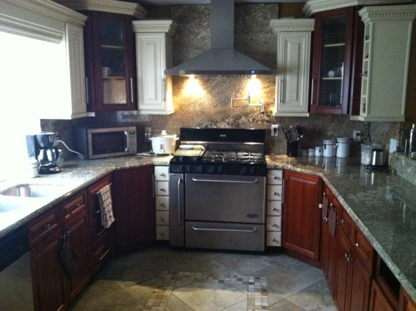 My dream kitchen, It was a very tiny place until my husband remodeled the whole house and the kitchen was the best of all., Now new and beautiful kitchen with granite countertops, pot filler and gorgeous hood.   , Kitchens Design