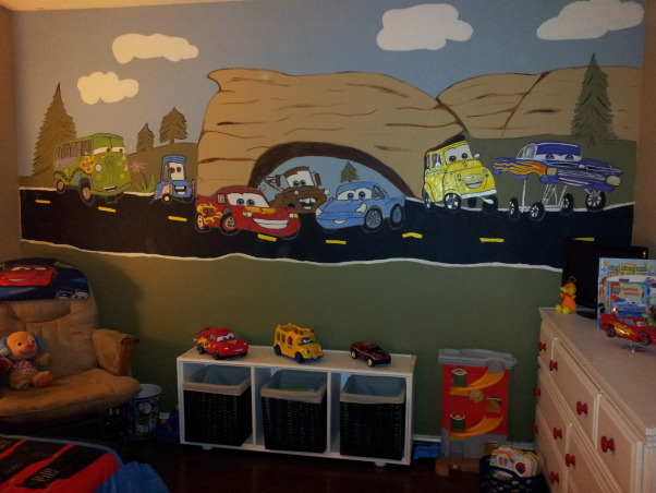 Cars Theme Room, Cars Theme room for grandson., Boys' Rooms Design