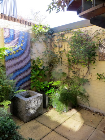 Outdoor Art, The small, pretty dark patio which leads to the rooftop terrace needed some uplifting. It's simple to DIY just need pieces of mosaics and imagination., A statement piece for a small patio., Patios & Decks Design