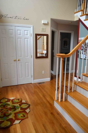 Spruced up Foyer  , This space is a two story foyer.  I wanted it to be welcoming, elegant and easy.  The entryway to me, is a first impression and sets the stage for the rest of your home.    , Other Spaces Design