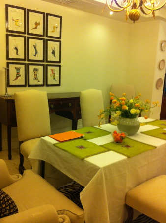 Bring the freshness of Spring into the Dinning room!, Dinning in a fresh and pleasant room adds extra enjoyment to a beautiful dinner., My beautiful dinning room with new fresh Spring color., Dining Rooms Design