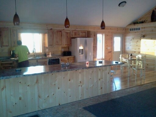 Building our new home, This is a picture of our kitchen as we are trying to finish it. We're building our home and it's just about done.  Regular house out, log cabin in.  , Kitchen, Other Spaces Design