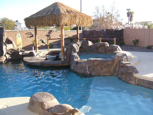 Paradise in the Desert, Something to remind us of our time in Hawaii, Swim up bar w/spa, Pools Design