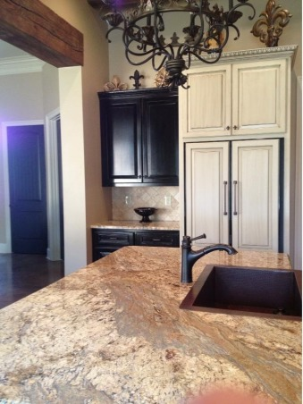 Cajun kitchen done the fancy way, I wanted a comfortable beautiful classic space , Exotic granite and copper sink, Kitchens Design